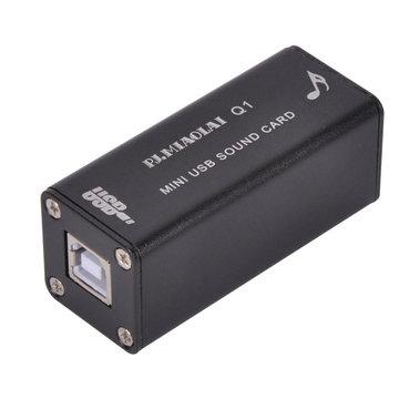 PJ.MIAOLAI Q1 PCM2704 HIFI Mini USB draagbare geluidskaart DAC