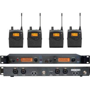 Soundhai SR2050 In Oor Draadloos Stage Monitor Systeem 2 Kanaal 4 Bodypack Karaoke Microfoon Systeem