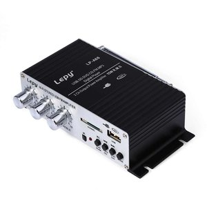 Lepy LP-A68 USB FM Mini-versterker voor thuisauto