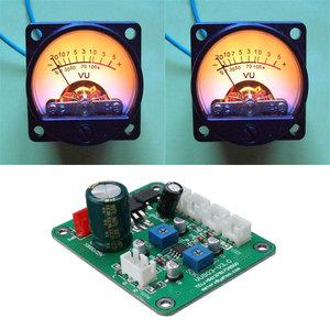 2 stuks VU Meter Warm Backlight Recording Audio Level Amp Met Driver Module