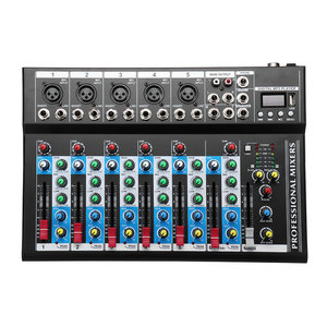 7 Kanaals USB Draagbare Monitor Mixer Bluetooth Live Studio Audio Mixing Console voor Karaoke DJ