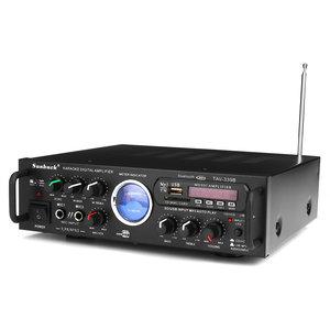 Sunbuck TAV-339B 110V Bluetooth 600w Karaoke Power Stero-versterker met VU Meter FM 2 Ch USB SD