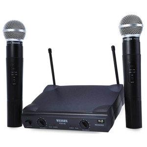 WEISRE PGX58 Omni-directioneel Draadloos Microfoon Systeem Dual Mic voor Karaoke Party KTV