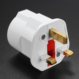 Europese 2 Pin naar UK 3 Pin Plug Adapter EU Schuko Travel Netto Adapter Max 3250W_