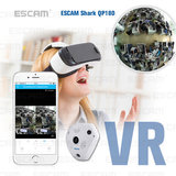 ESCAM Fisheye-camera Ondersteuning VR QP180 Shark 960P IP WiFi-camera 1.3MP 360 graden panoramische infrarood Nachtzichtcamera_