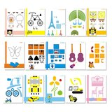 15PCS 3D Printing Pen Double-sided Papers + Transparent Template Copy Graffiti Board Suit for Kids_