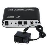Digital to Analog AC3 Optical to Stereo Surround HD 5.1 Audio Decoder 2 SPDIF Ports HD Audio Rush_