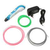 3D Printing Drawing Pen + 3x ABS Filament + EU Plug Power Adapter Kit_