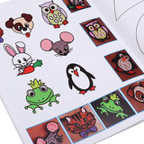 22Pcs/Pack 44 Patterns 3D Printing Pen Double-sided Cartoon Drawing Paper with Transparent Template Copy Graffiti Board for DIY Children Kids_