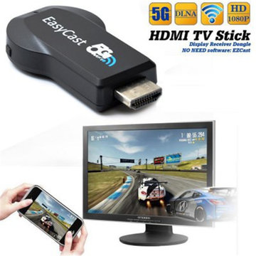 Easycast 2.4G 5G HDMI Streaming Media Player Airplay Mirroring Miracast DLNA Wifi-scherm TV-Dongle