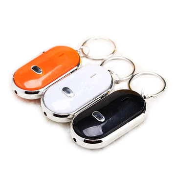 Whistle Key Finder Keychain Geluid LED Met Klokkenluizen