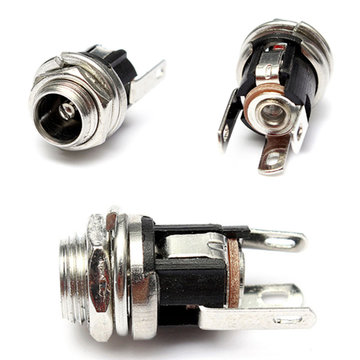 5.5mm X 2.1mm DC Power Supply Metalen Jack Socket Met Noten En Wasmachine