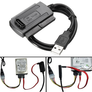 USB 2.0 naar SATA / IDE Data Hard Drive Cable voor HDD Power Converter Adapter