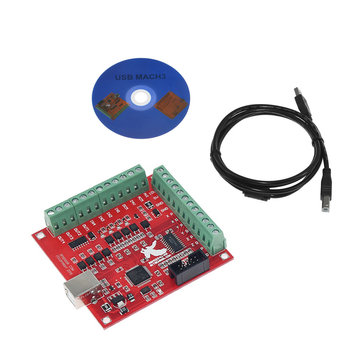 TWEE TREES® Super USB-interface MACH3 100 Khz Break-out Board 4 Axis Interface Driver Motion Controller 3D Printer CNC Board