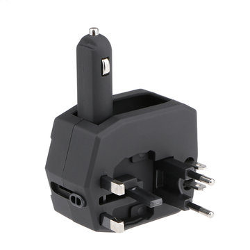 Armour Universal World Travel Adapter Met 1.5A Autolader En 2.5A Dual USB Poorten