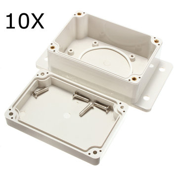 10 Stks 100x68x50mm Wit Plastic Behuizing Waterdichte Elektronische Case PCB Box Junction Case