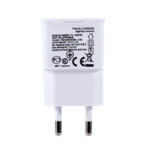 Universele Dual USB EU-stekker 5V 2A Muurreizen Power Charger Adapter