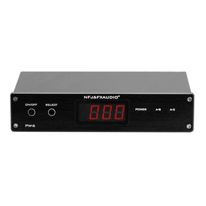 FX-Audio PW-6 HiFi Amplifiers Speaker Converter 2 in 1 out Remote control 1 in 2 out Convenient Comparison With Power Supply